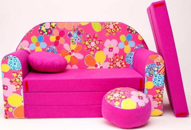 Anix Babaáruház Plüss kanapé nyitható, pink többféle